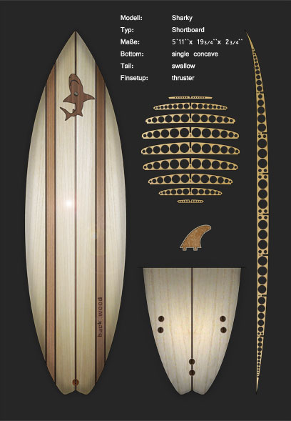 Surfboard Kits Wood